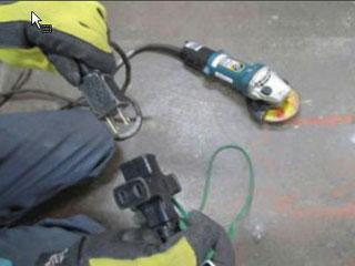 100V電動工具の電源入れ