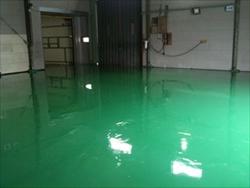 床の防塵塗装化
