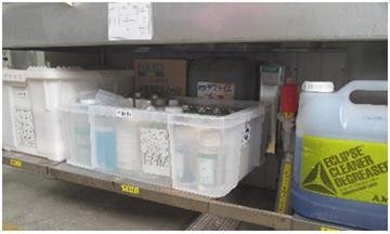 洗剤置き場の整理