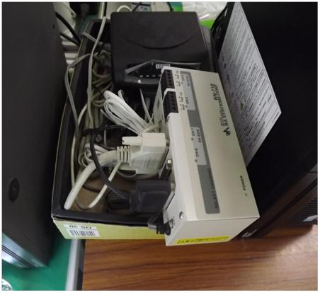 タイムレコーダー用接続機器保管方法改善
