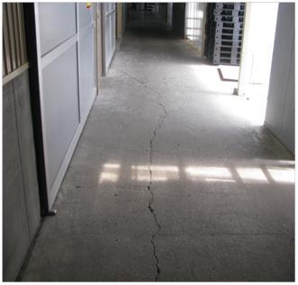通路床の防塵塗装化