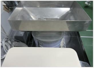 廃棄粉用漏斗の改善